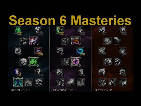 LoL Masteries 6 season