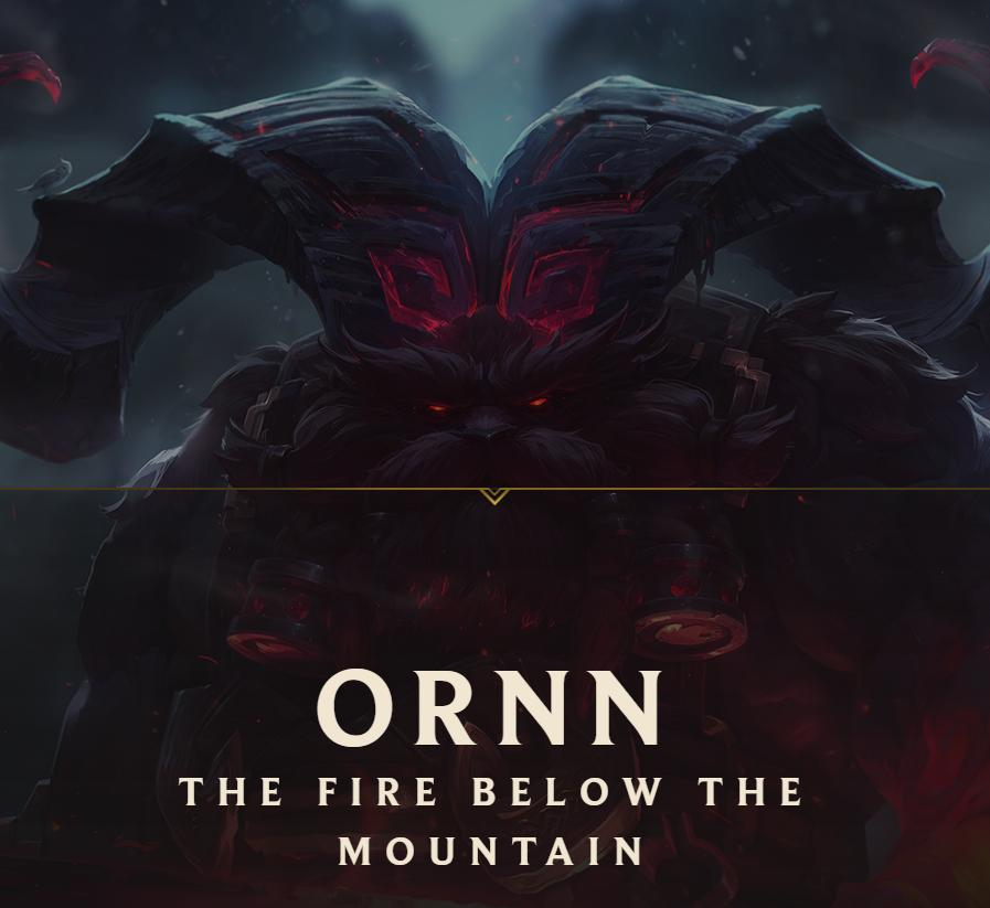 Ornn the fire below the mountain
